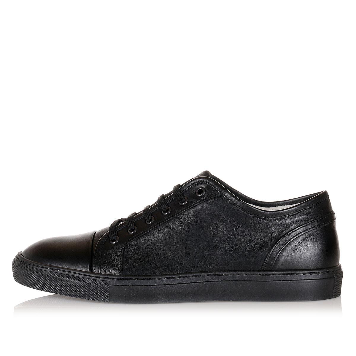 armani men leather sneakers spence outlet. Black Bedroom Furniture Sets. Home Design Ideas