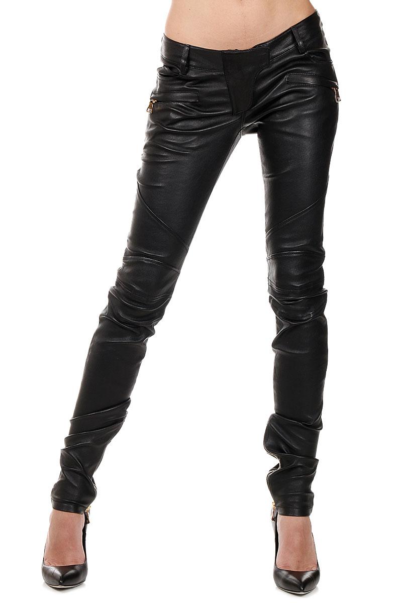 Lastest Balmain Lipstick Lowrise Skinny Leather Pants In Red  Lyst