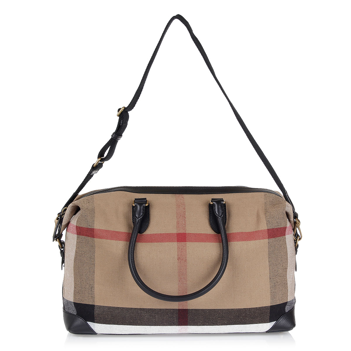burberry checked kingswood travel bag spence outlet