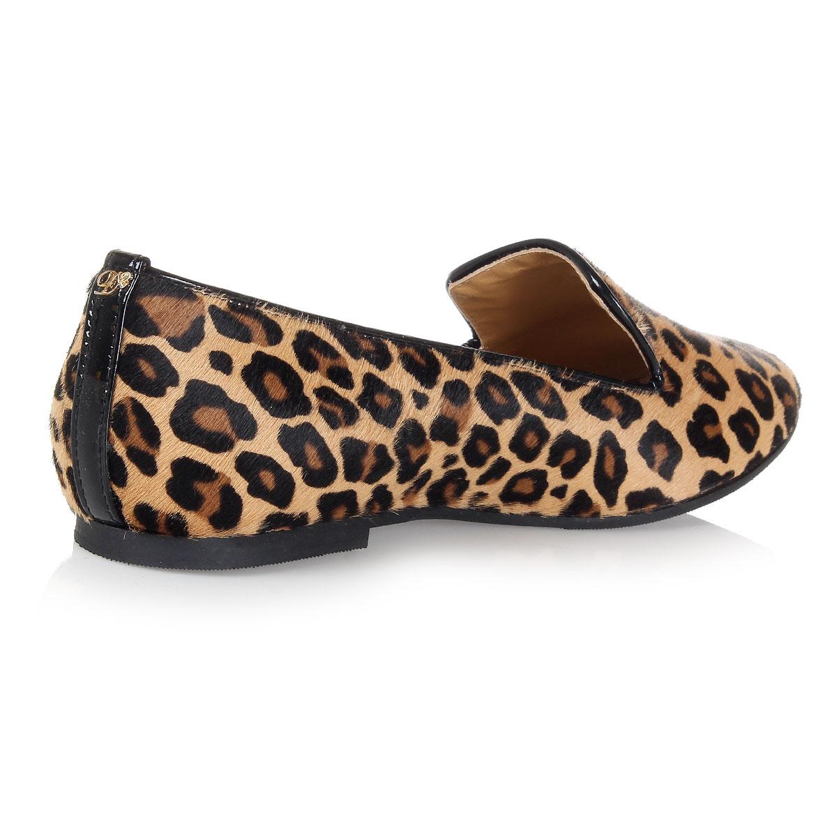 dsquared2 leopard print ponyskin flat shoes spence