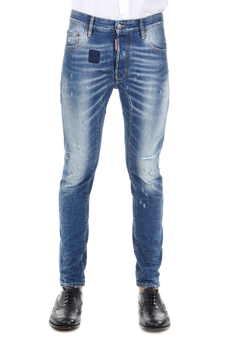 dsquared2 dsquared herren blue denim jeans original made. Black Bedroom Furniture Sets. Home Design Ideas