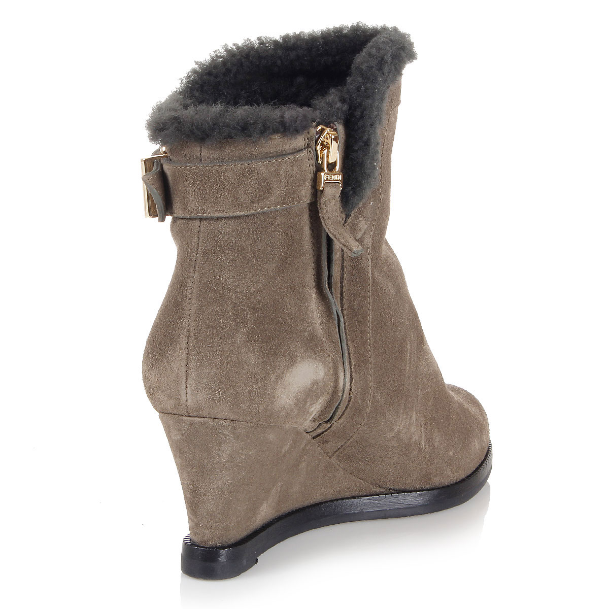 fendi shearling lined ankle boots spence outlet