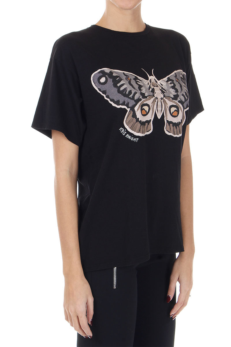 gucci donna tshirt con stampa farfalla spence outlet