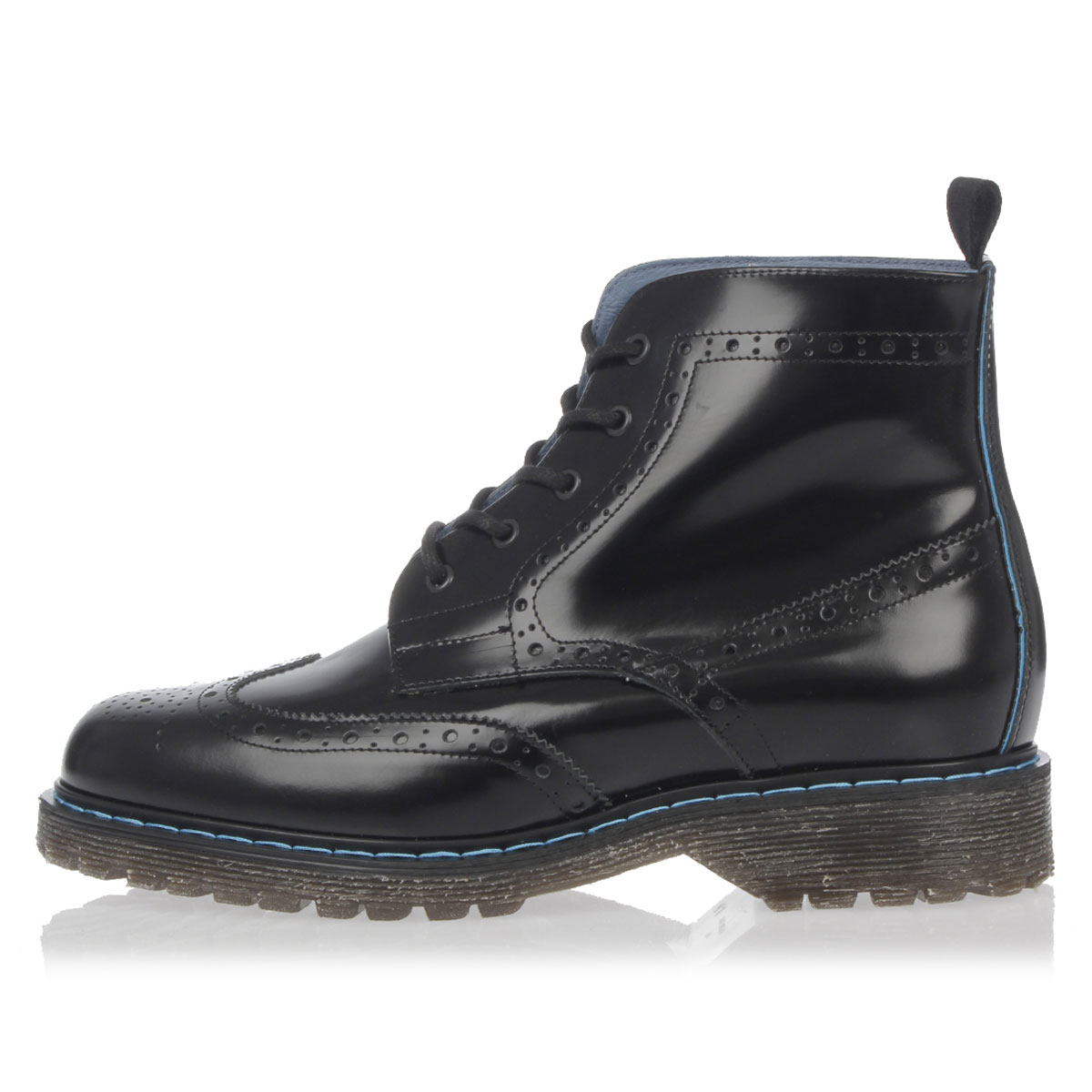 Philippe model paris man new black laced leather boots for New model boot