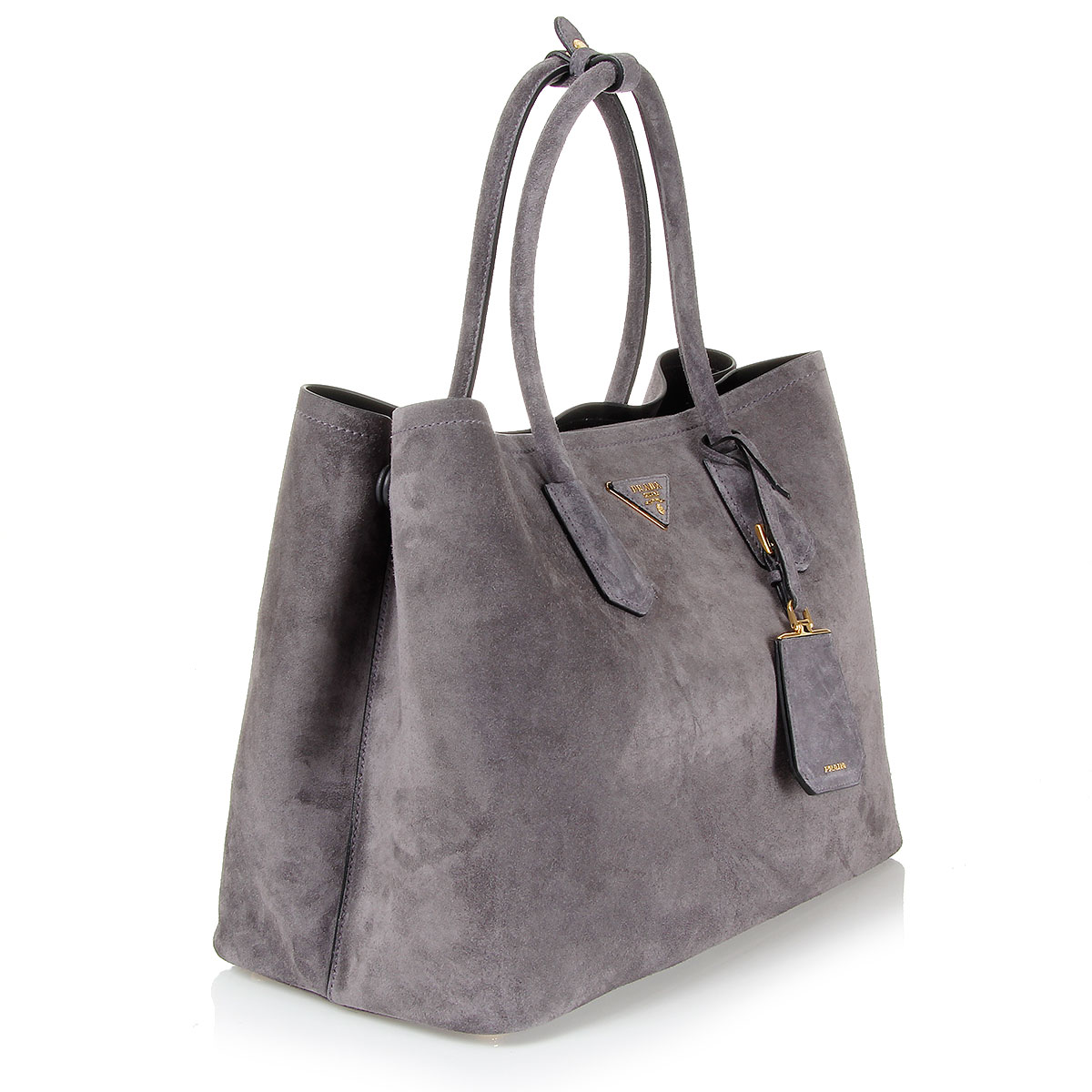 Prada Women Suede bag with removable shoulder strap - Spence Outlet