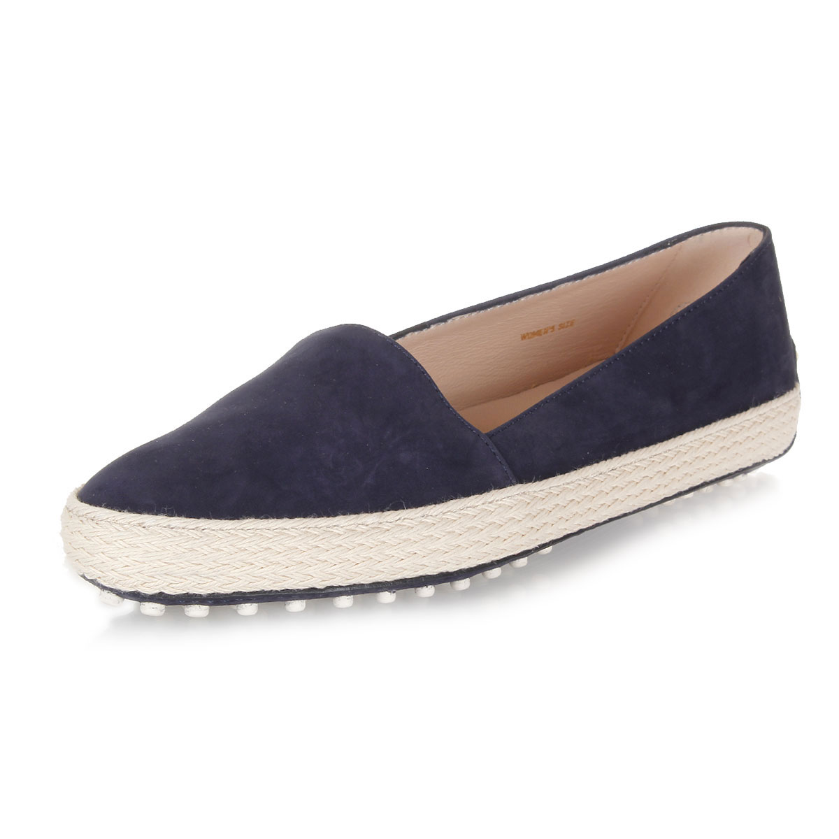 tods suede leather slip on shoes spence outlet