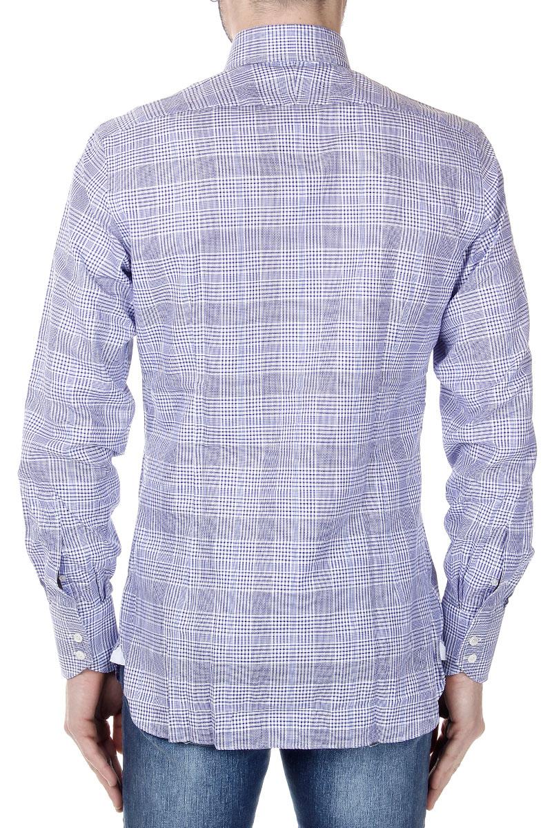 tom ford menschen blaues kariertes hemd aus baumwolle made in italy neu ebay. Black Bedroom Furniture Sets. Home Design Ideas